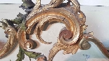 19th Century  Baroque Style Carved Lacquered Golden mirror-7