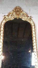 19th Century  Baroque Style Carved Lacquered Golden mirror-8