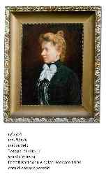 Pair of signed and dated German school portraits-3