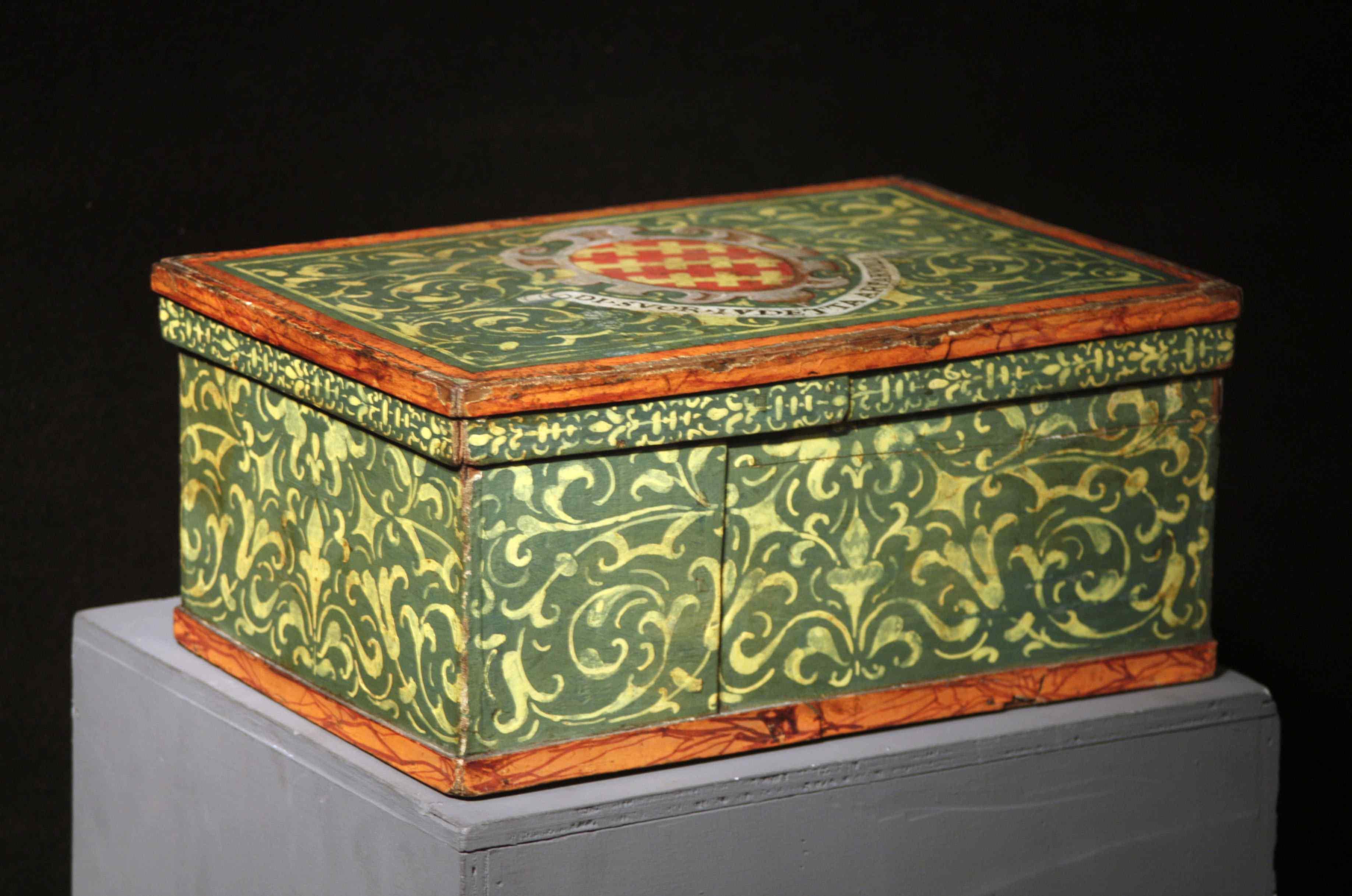 Lacquered box, Tuscany, 17th century
