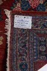 Vieux tapis de chevet Kashan, avec couronne-0