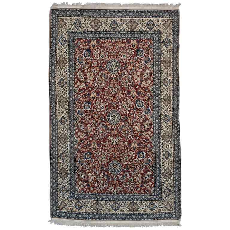 Unusual design Nain Vintage Carpet, Silk Blend