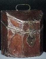 Leather box, cutlery tray, Sec.XVII-0