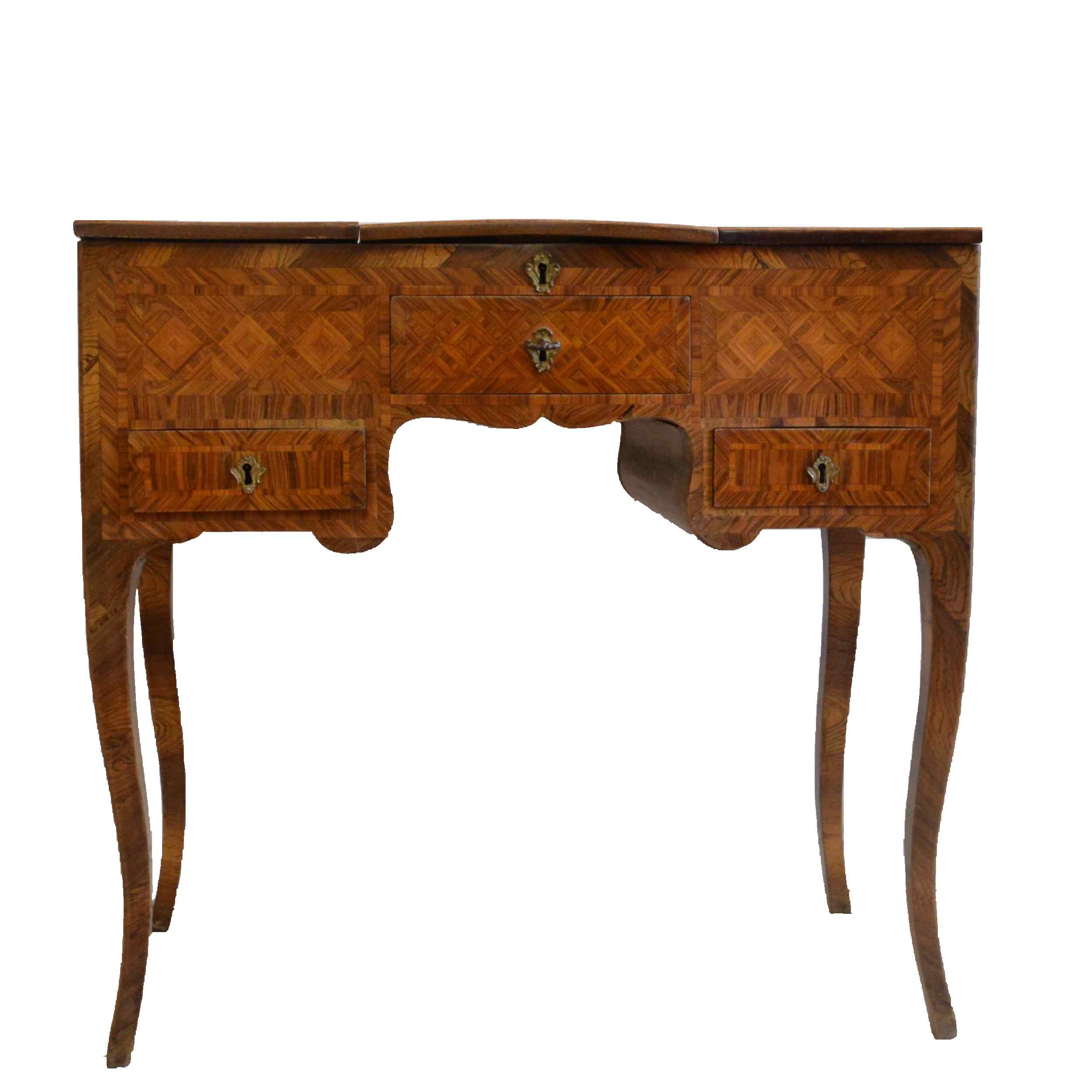 Louis XV Napoletana Toilet Inlaid in Marqueterie