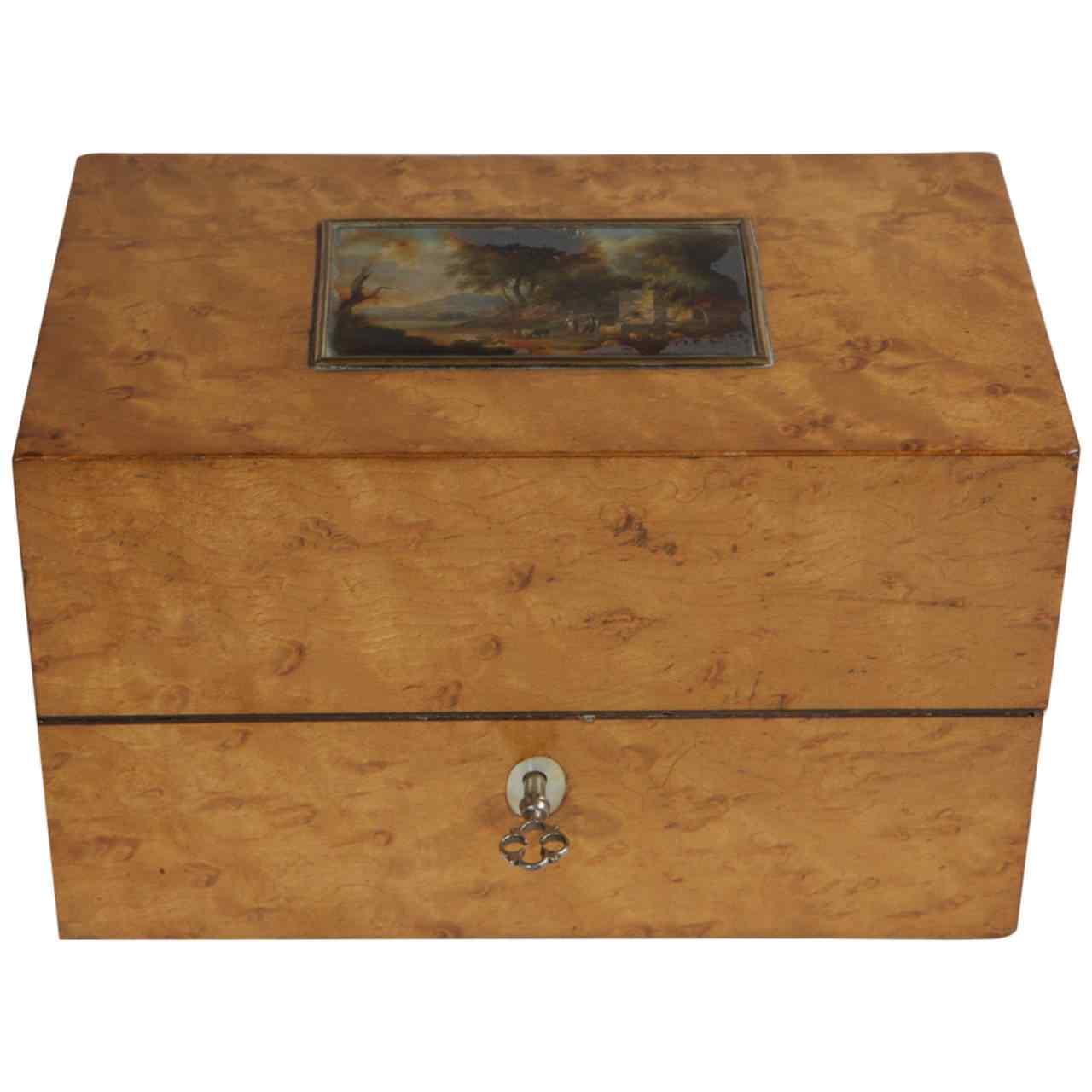 Miniature italienne antique sur le cercueil